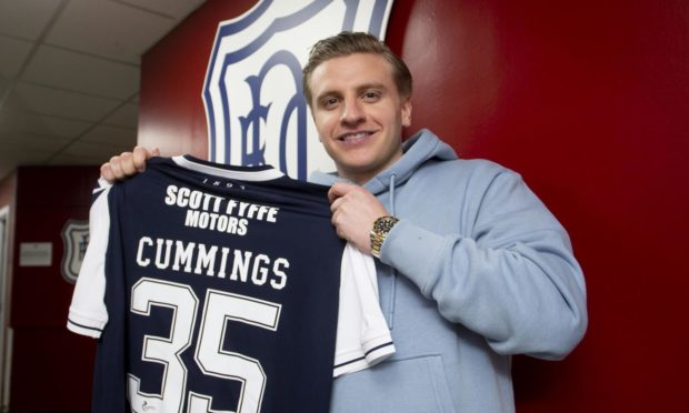 Dundee new boy Jason Cummings started on the bench.