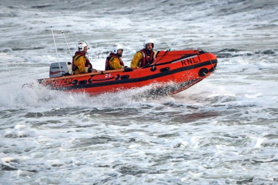 The inshore lifeboat.