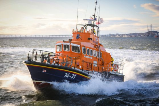 One of the Broughty Ferrt lifeboats.
