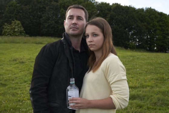 Actors Molly Windsor and Martin Compston