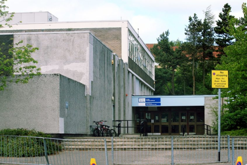 Ardler Primary School in Dundee is one of the schools to have confirmed cases.