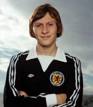 United and Scotland star Paul Sturrock during 1976/77 campaign.