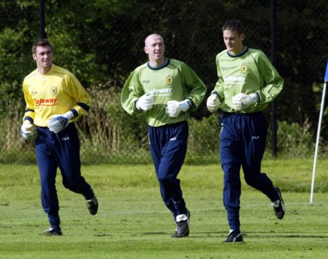 Allan McGregor, Derek Soutar and Craig Gordon.