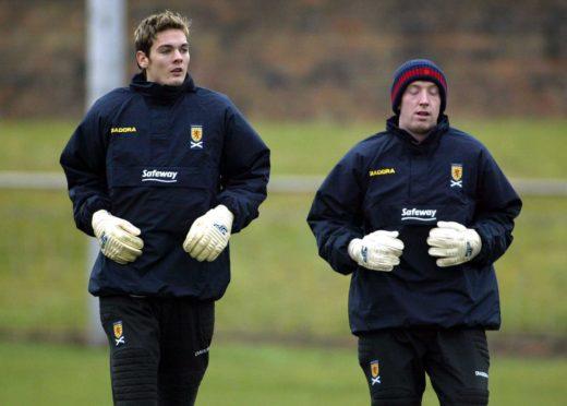 Craig Gordon and Derek Soutar in 2003.