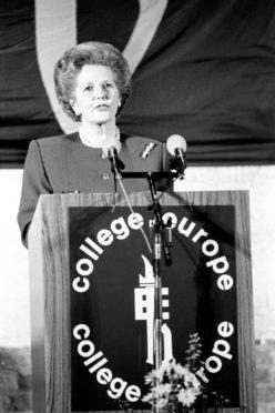 Margaret Thatcher in 1988.
