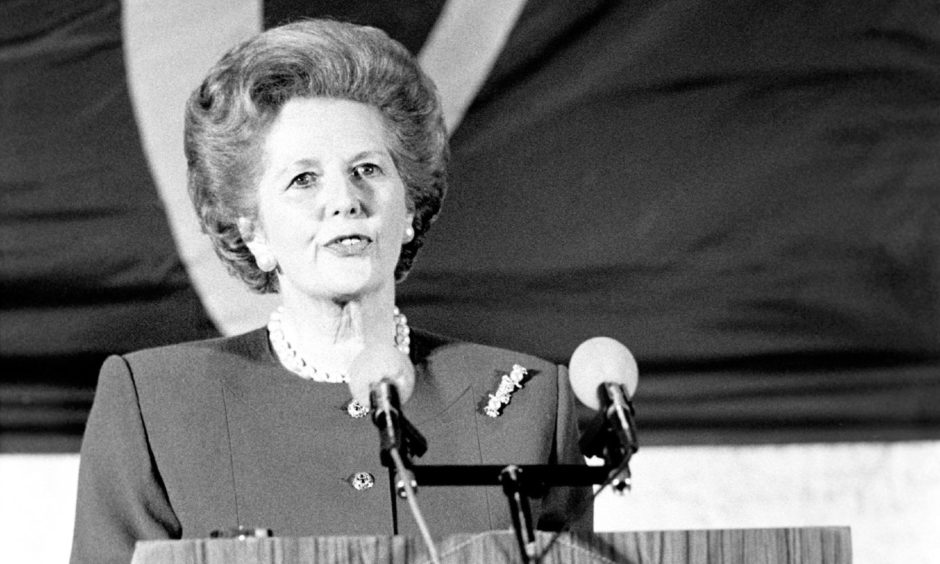 Margaret Thatcher, who has been praised by Boris Johnson, in 1988.
