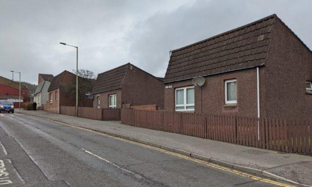 The sheltered housing on Kinghorne Road.