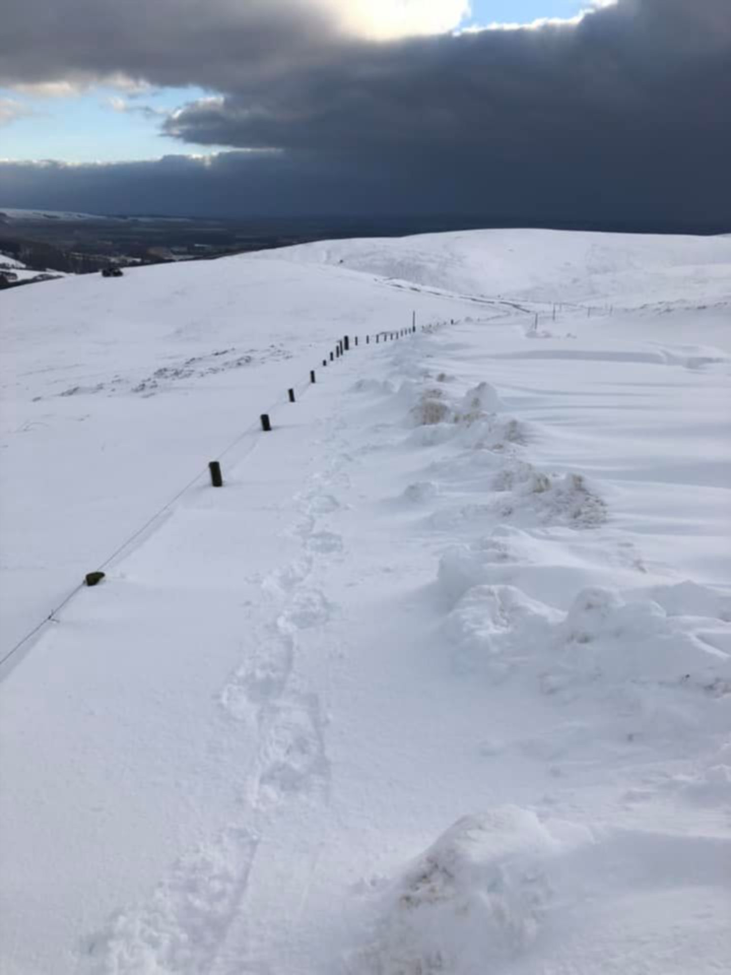 Mearns man Ralph Davidson took these images of the Cairn O' Mount road completely buried under snow.