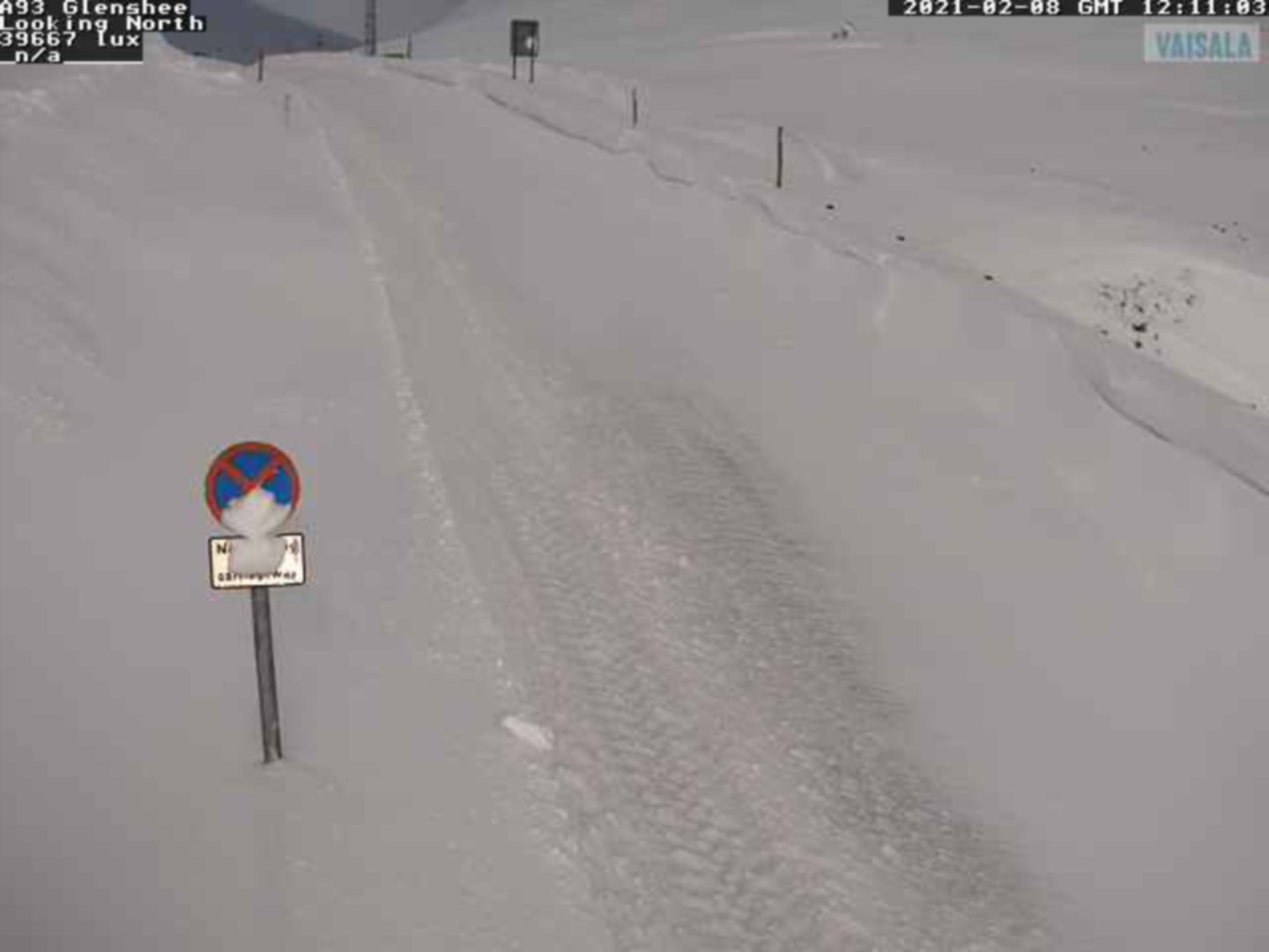 The A93 at Glenshee northbound.