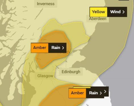 The weather warnings in place across Tayside and Fife from Tuesday.