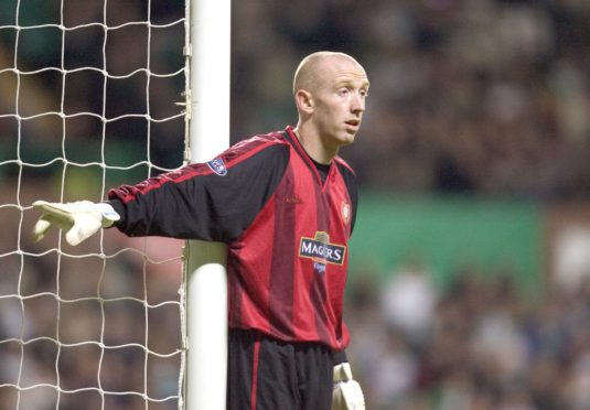 Derek Soutar in action for Dundee against Celtic in 2005.