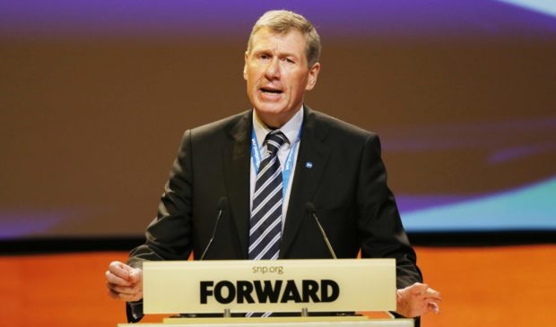 Kenny MacAskill at a Scottish National Party (SNP) conference in Perth in 2015.