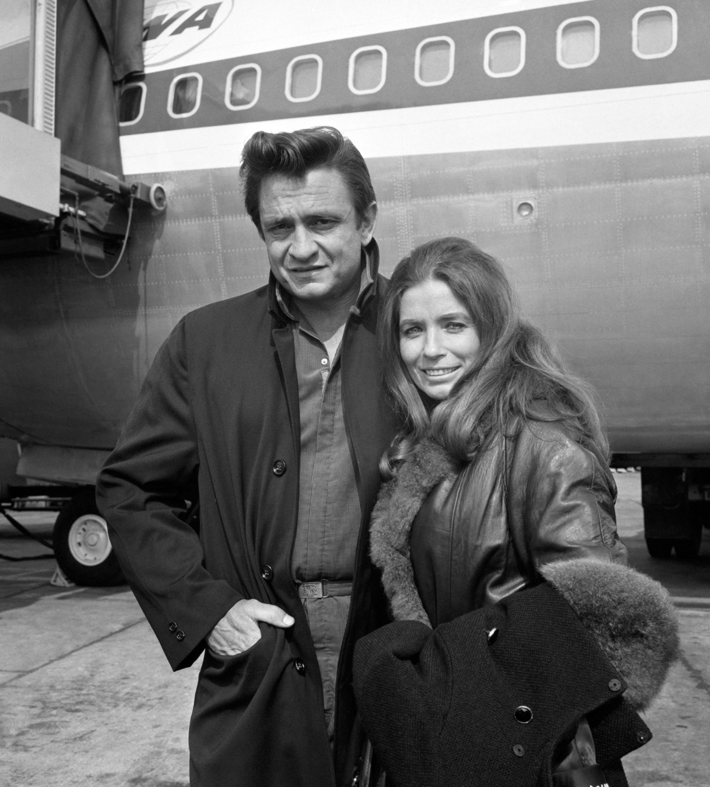 Johnny Cash and his wife, June Carter Cash.