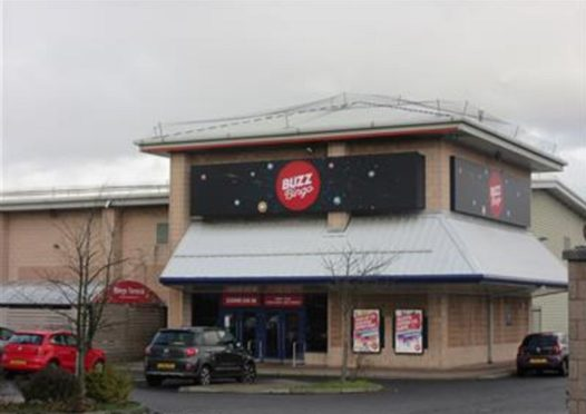 The former Buzz Bingo premises in Glenrothes' Flemington Road, which closed in March 2021.