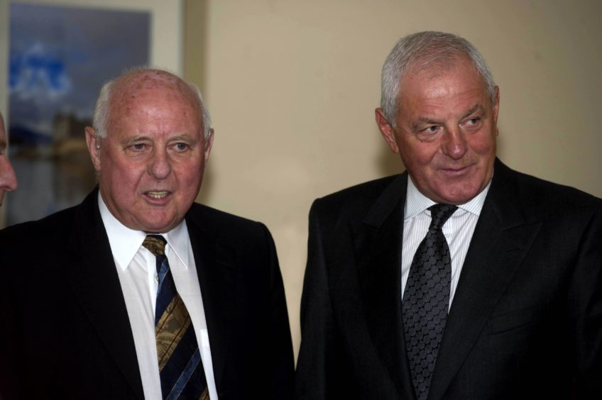 Jim McLean and Walter Smith in 2011.
