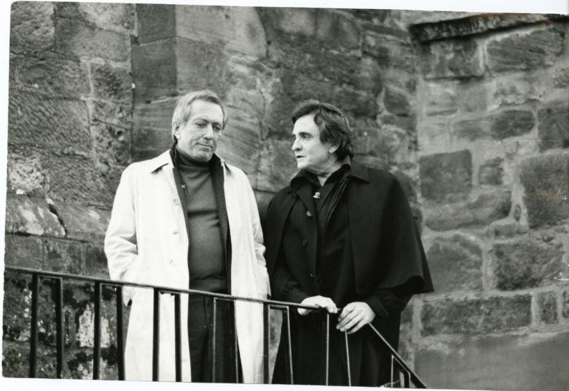 Johnny Cash and Andy Williams at Falkland Palace.