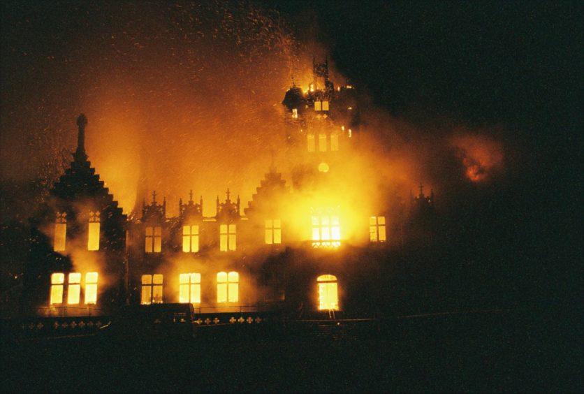 Morgan Academy school on fire