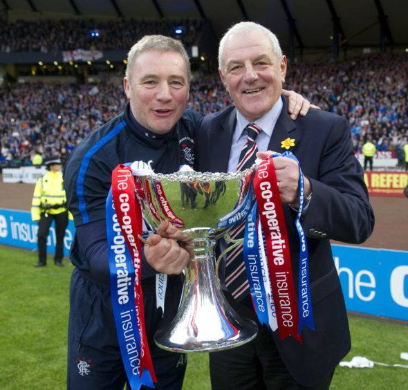 Ally McCoist and Walter Smith.