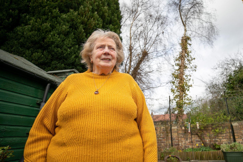 pensioner overgrown trees garden Dundee