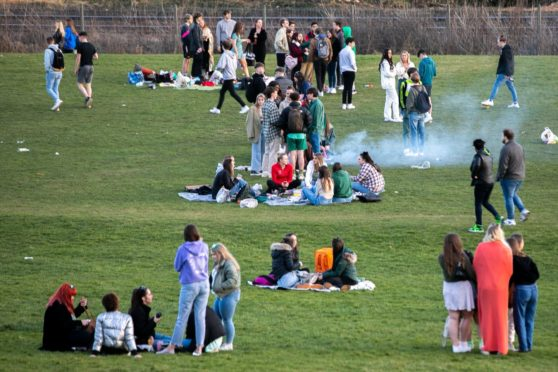 The groups are believed to be students.