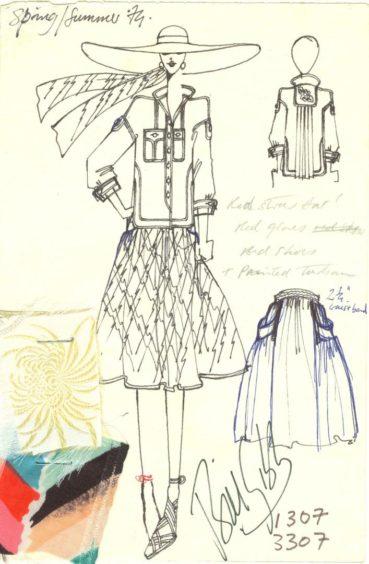 Some of Bill Gibb's innovative designs.