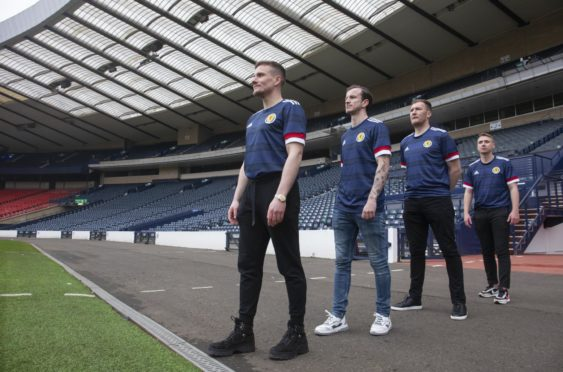 Si Ferry, Andy Halliday, Kevin Kyle and Paul Slane pictured at Hampden.