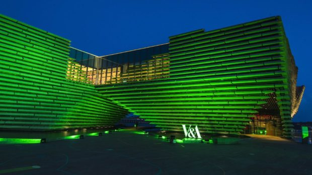 V and A Dundee goes green.
