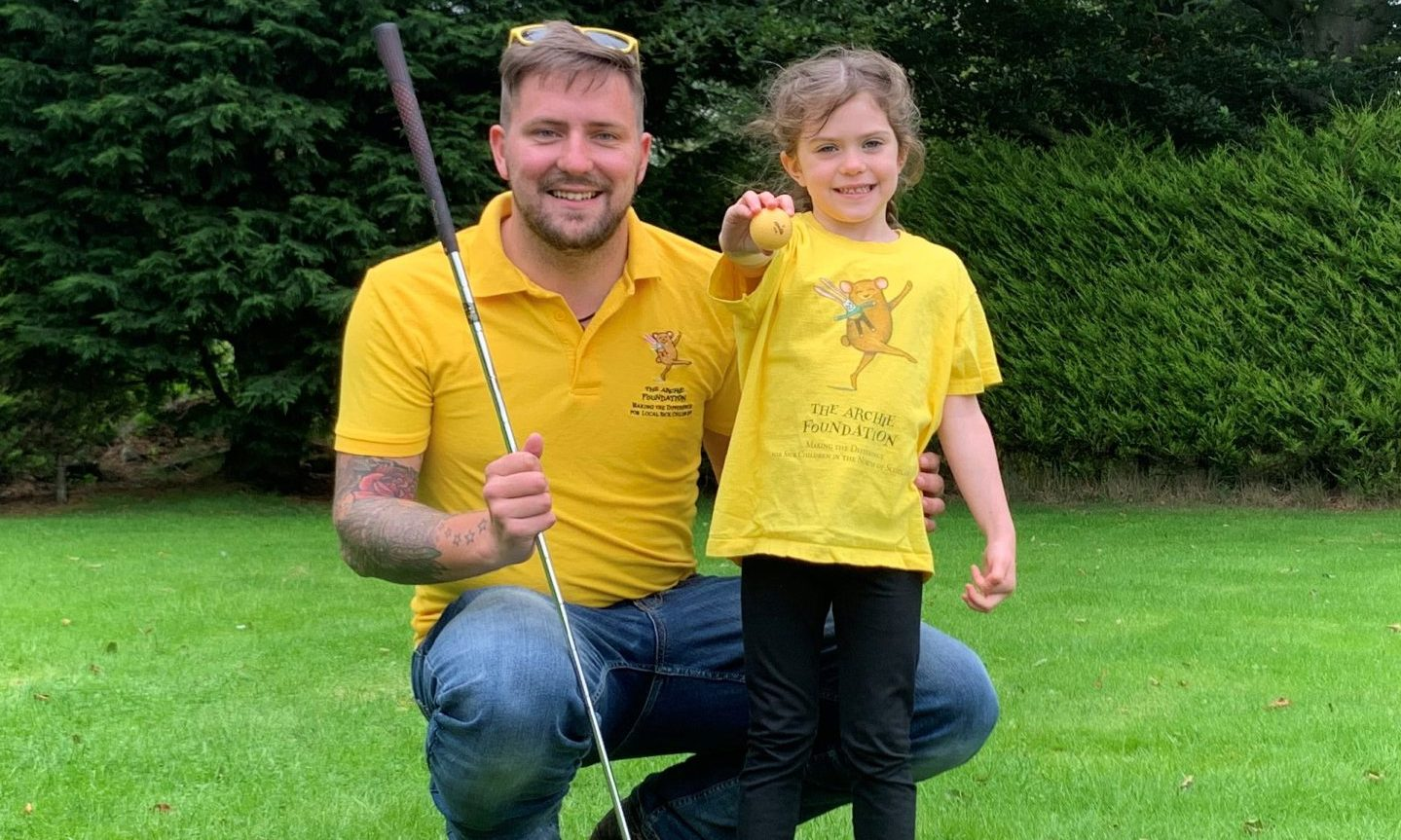 Jamie and Kaiya Smith help launch The Archie Foundation's second Archie Open golf competition this May.