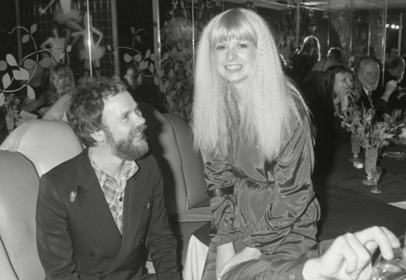 North-east designer Bill Gibb at the premiere of Xanadu in the 1970s.