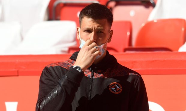 Dundee United goalkeeper Benjamin Siegrist is out for the season.