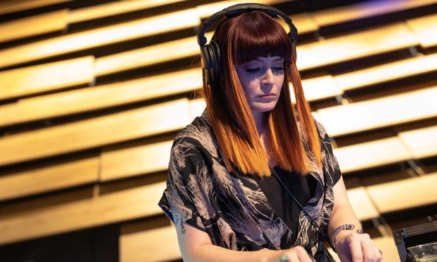 Ana Matronic DJs at the VandA in October 2019 for Festival of the Future. Picture supplied by University of Dundee