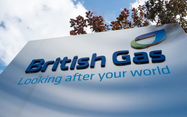 A sign for British Gas