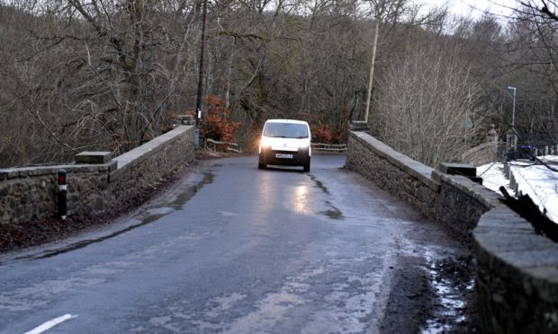 Concerns have been raised over Urie Bridge in Keithhall being too narrow for two vehicles to pass.