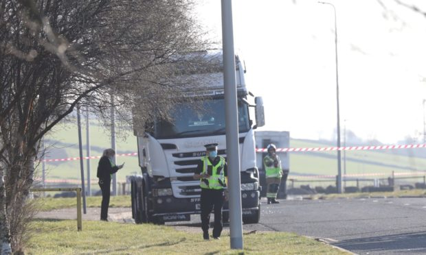 Dundee lorry fire