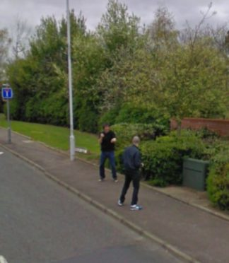 The two men can be seen apparently fighting in a picture on Google maps
