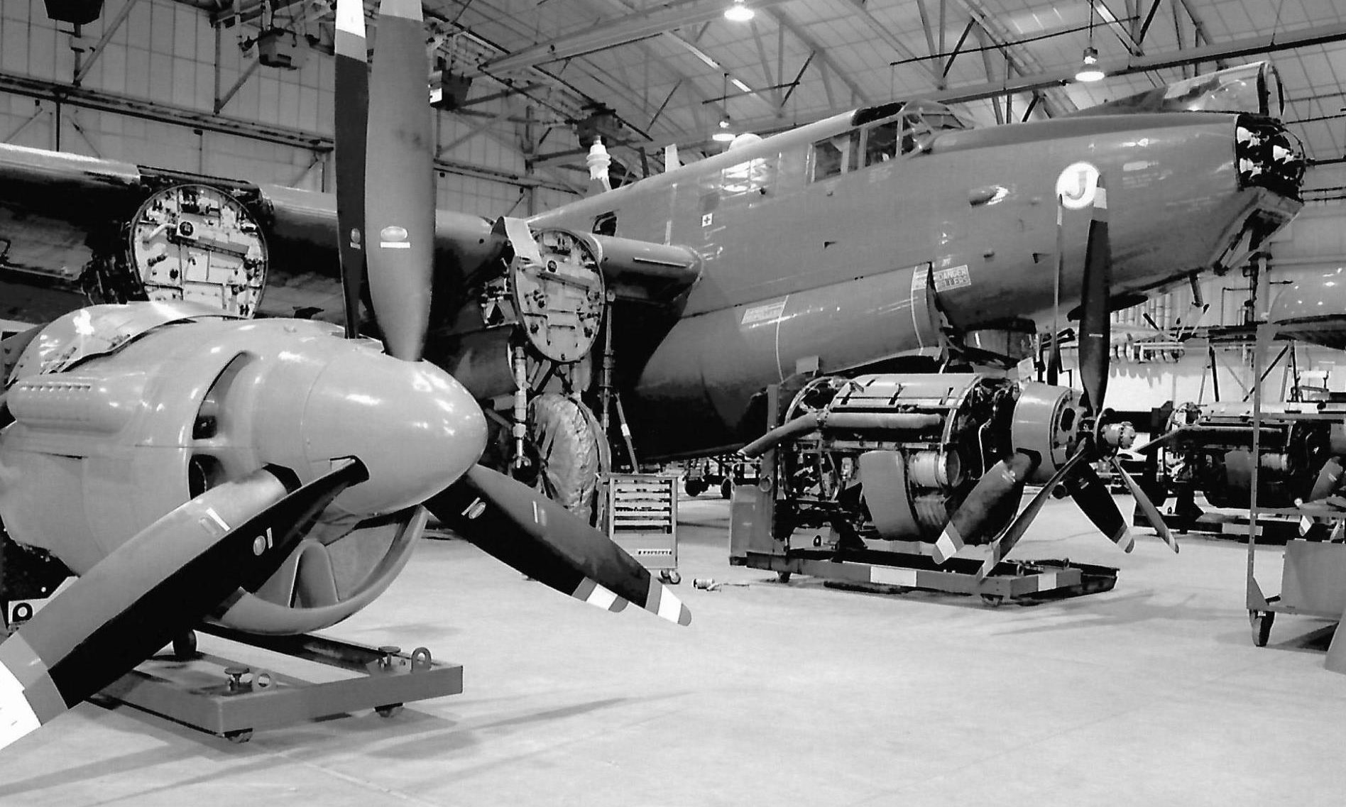 Some of the Shackleton aircraft at RAF Lossiemouth.