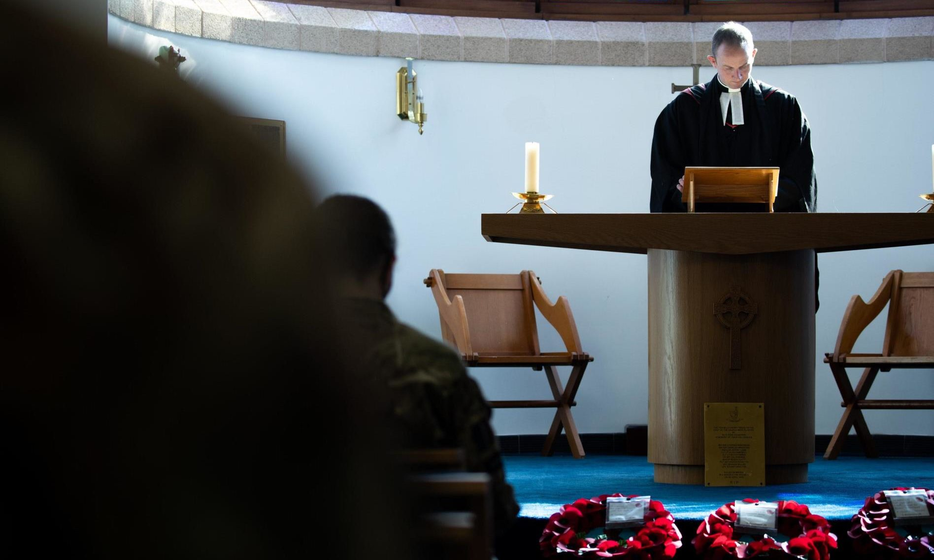 The memorial service was held at St Aidan's Church, Lossiemouth.