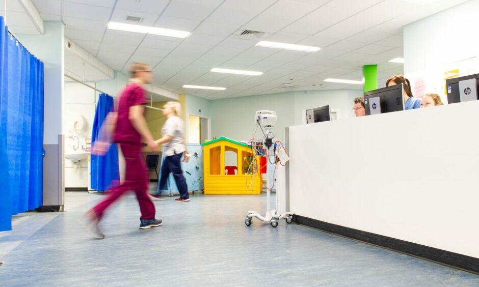 Busy hospital staff
