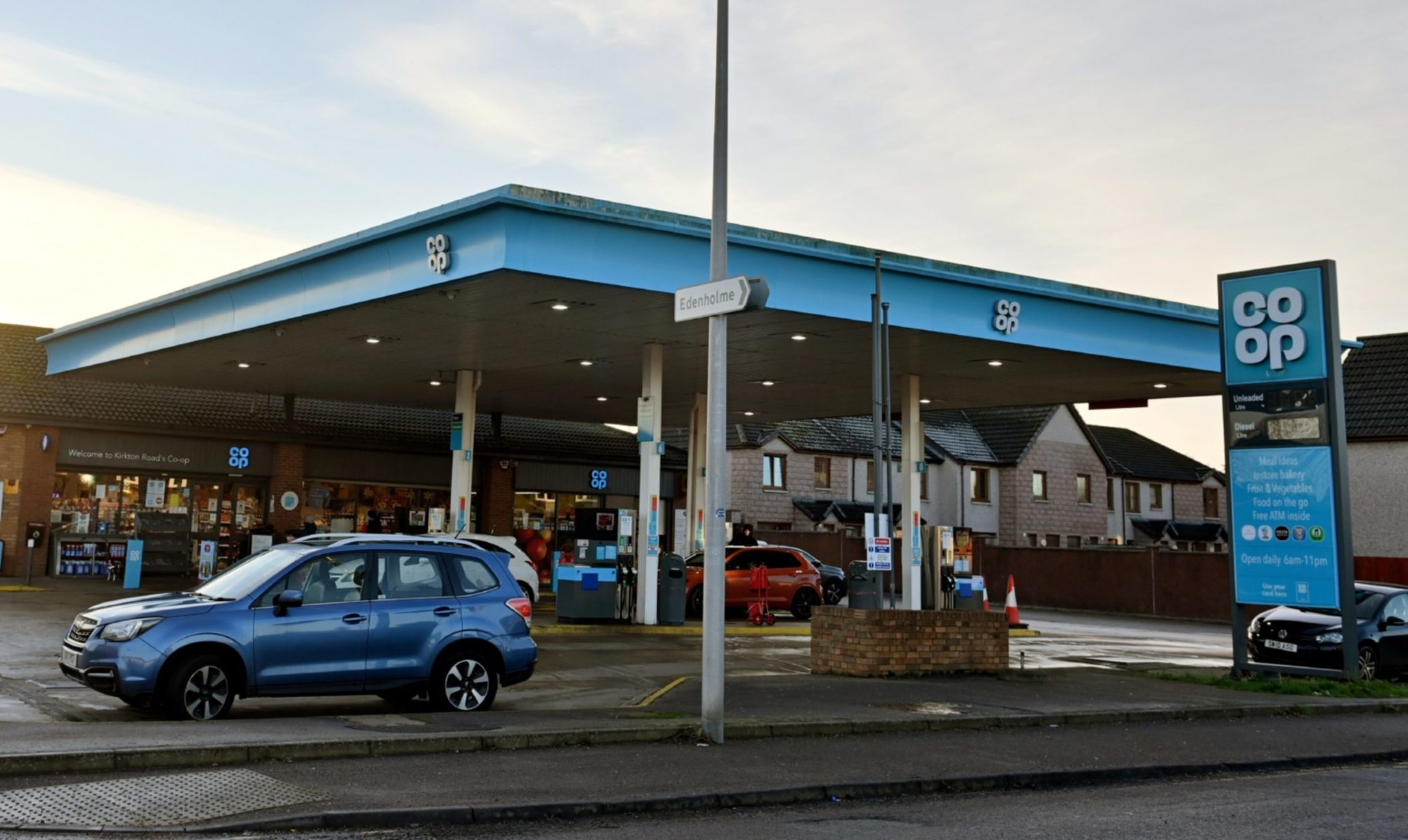 The Kirkton Road Co-Op petrol station currently houses Stonehaven's only Post Office.