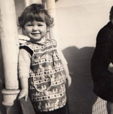 Lorraine as a child in Dundee.