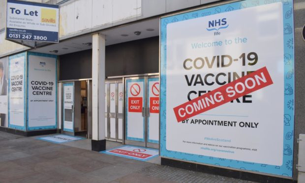 The former M&S shop in Kirkcaldy set up as a Covid vaccine clinic