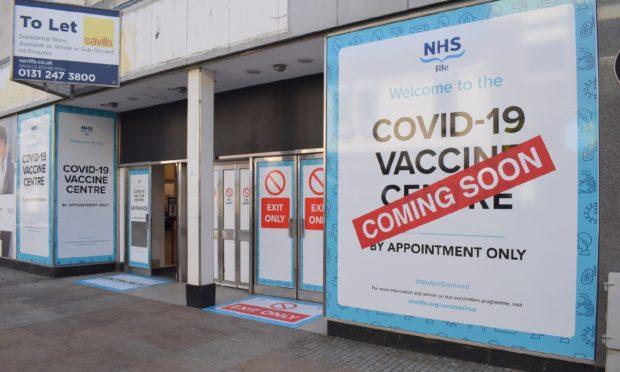 parking Kirkcaldy vaccination centre