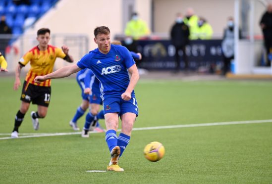 Rory McAllsiter equalised for Cove from the penalty spot.