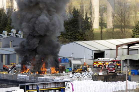 Crews from the Scottish Fire and Rescue Service are dealing with the fire