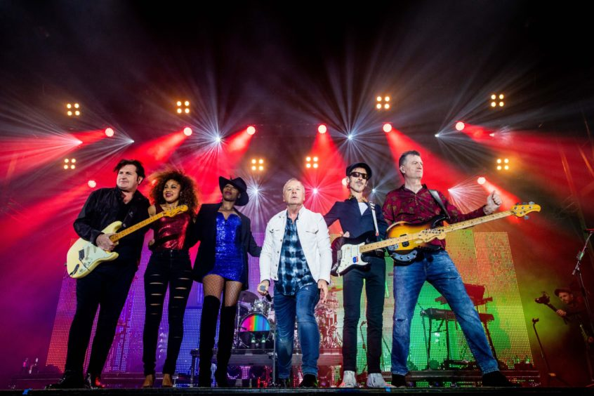 Frontman Jim Kerr and Simple Minds rocked Slessor Gardens in 2018.