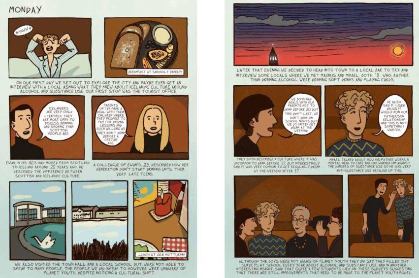 A comic strip by Millie Strachan