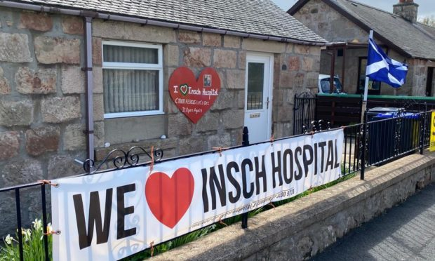 Banners as pictured in Insch were a common sight on Thursday, as the first minister's election campaign rolled into the Aberdeenshire village