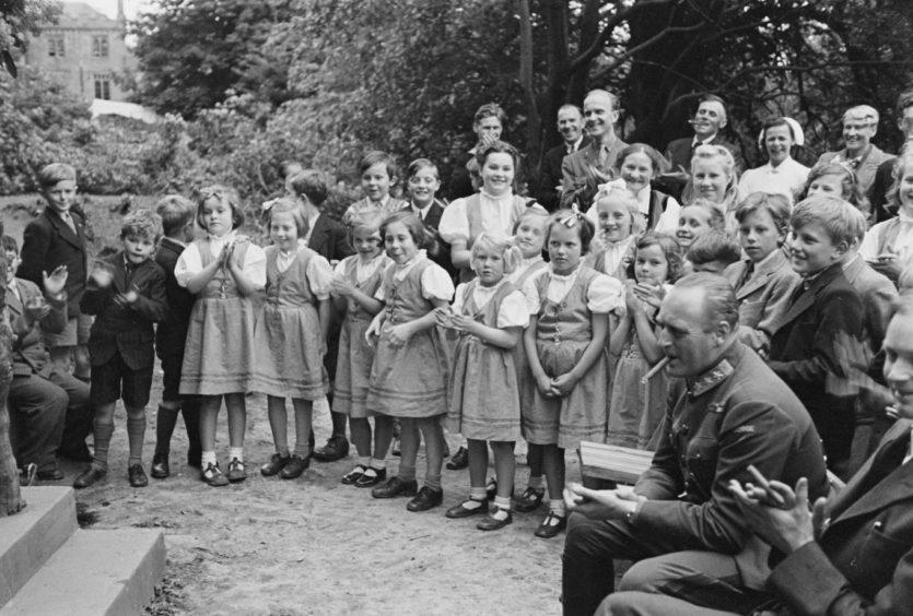 Norwegian school at Drumtochty Castle during the war.