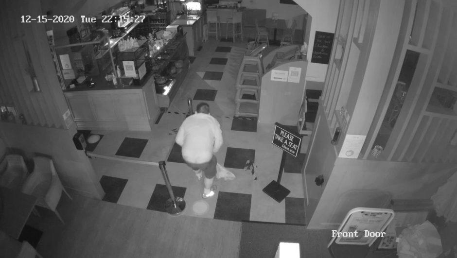 Perth cafe thief CCTV footage