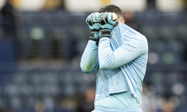 Dundee United stopper Deniz was left gutted the Tangerines weren't able to progress to the Scottish Cup Final.